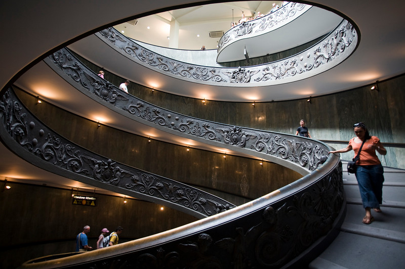 Helocoidal exit staircase of Vatican Museums