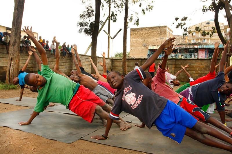 Side Plank at the Children's Home ~  Nairobi, Kenya