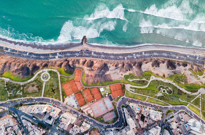 Aerial view of Miraflores - Things to do in Lima
