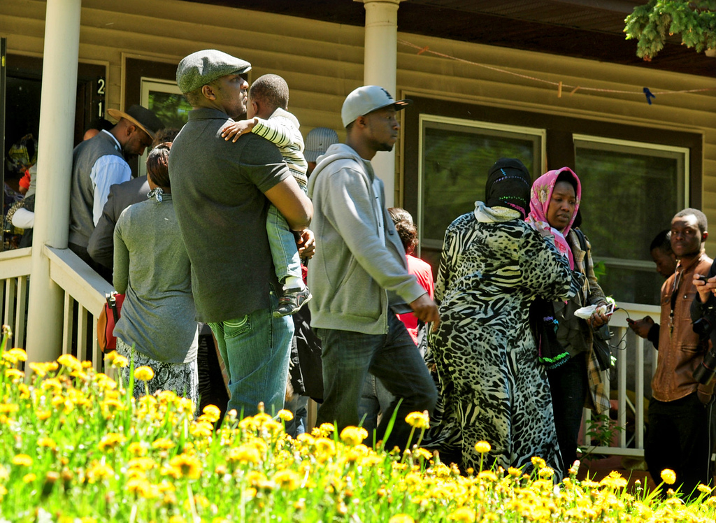 . The family home of Lancine Fofana and Madousu Kanneh, the father and mother of Zack Mohamed Fofana, age 10, who was killed while on a field trip with his class to Lilydale Regional Park, was filled with visitors Thursday,  May 23, 2013.   (Pioneer Press: Scott Takushi)