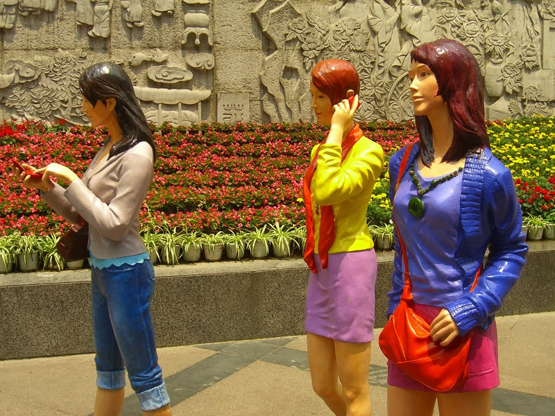 Mannequin Shoppers - Chengdu, China