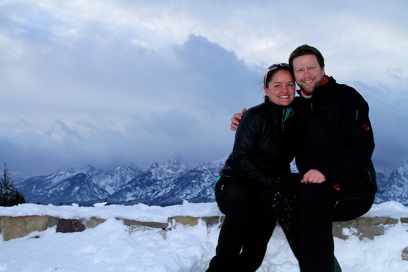 After I proposed to Brigitt.  The Tetons peaking out in the background