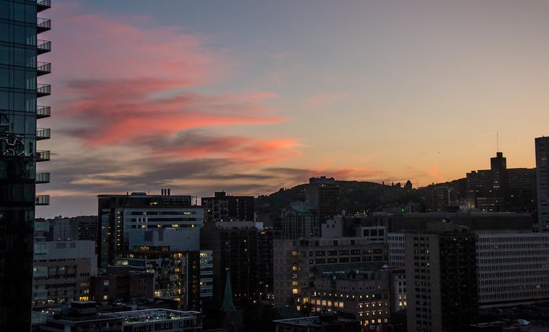 Nightfall - view from 2304, Le Center Sheraton