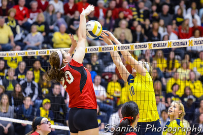 Michigan Volleyball Vs Nebraska 11-2-12