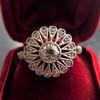 .85ctw Old European Cut Floral Motif Ring 18