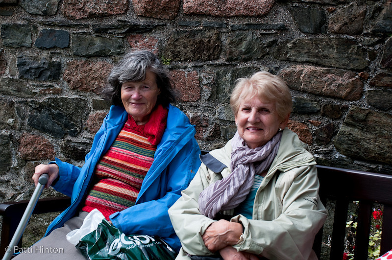 Vera & Josephine #84 & 85  I struck up a conversation with these two Irish lasses among the ruins of a nunnery on the Isle of Skye. I asked the name of a flower I admired. Vera was a treasure trove in knowledge about flowers and some of the local history.
