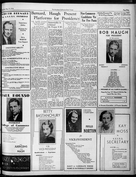 Daily Trojan, Vol. 25, No. 131, May 10, 1934
