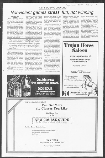 Daily Trojan, Vol. 72, No. 2, September 20, 1977