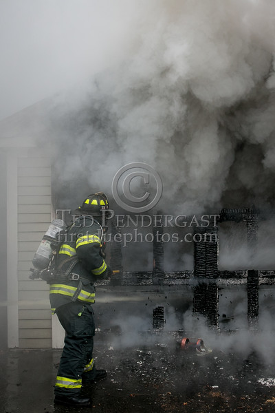 Belmont MA - Working Fire on Hillside Terrace