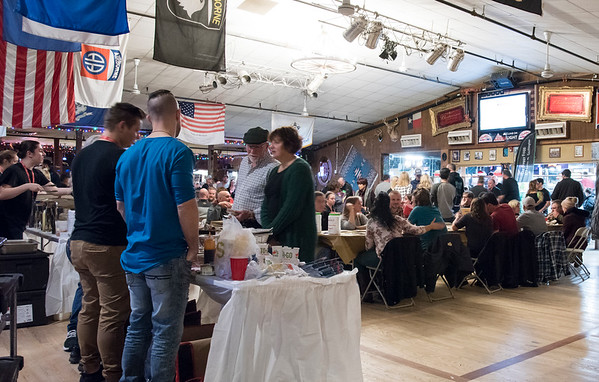 11/19/19 Wesley Bunnell | StaffrrPacked tables and wing tables during the Southington Chamber of Commerce's annual WingFest at the Cadillac Ranch on Monday night November 18 , 2019.