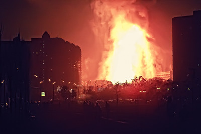 Fire in Moscow