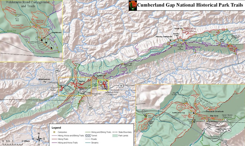 Cumberland Gap National Historical Park (Backcountry Trail Map)