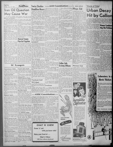 Daily Trojan, Vol. 37, No. 115, April 26, 1946