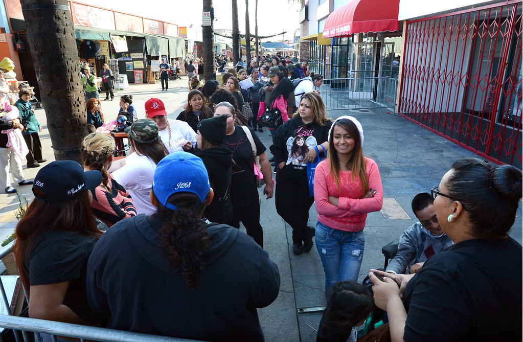 . Dec. 9 marks the one year anniversary of the death of singer Jenni Rivera. Fans line up outside the Jenni Rivera Boutique in Panorama City,  for the release of her new live album, which was recorder just before her death after her plane crashed in Mexico.  Panorama City Calif., December 3, 2013. 