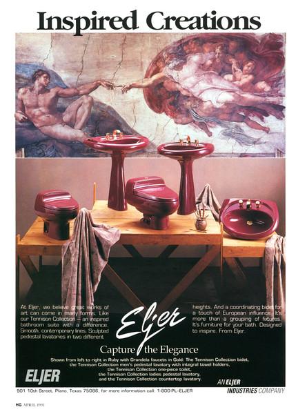 1991 ELJER sanitary ceramics US (House & Garden)