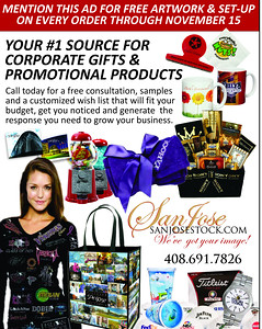 PROMOTIONAL PRODUCTS: visit our full line site at www.sanjosestockpromos.com