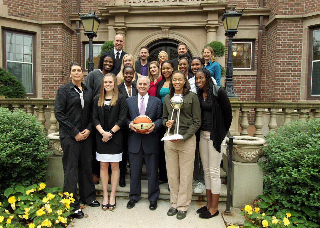 . Minnesota Gov. Mark Dayton hosted a celebration breakfast reception for the Lynx Monday at the Governor\'s residence in St. Paul. Gov. Dayton has declared today, Monday as �Minnesota Lynx Day� in Minnesota. (Courtesy photo)