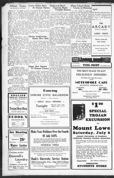 Southern California Trojan, Vol. 12, No. 3, June 27, 1933