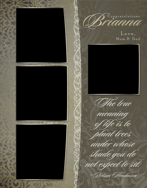 Antique Damask - Full Page Template