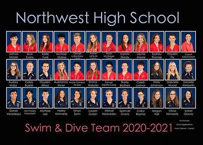 Northwwest High Scool Swim & Dive Team 2020