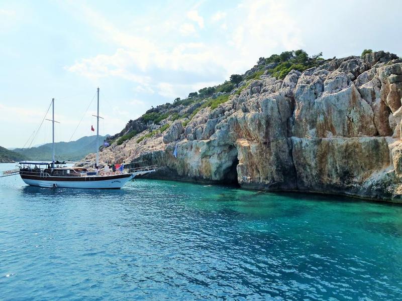 sailboat in Kekova, Turkey