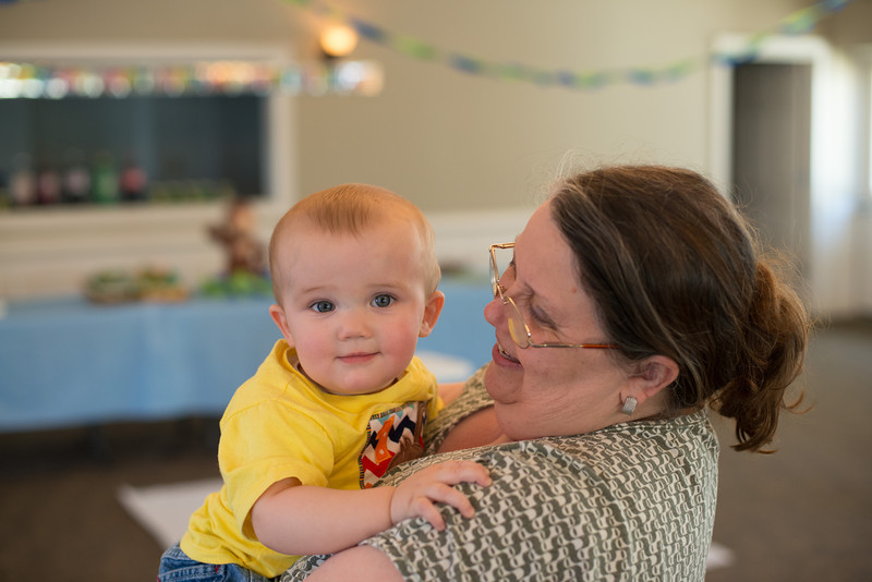 First Birthday Party at Monroe Church of Christ - Breyden and Granny
