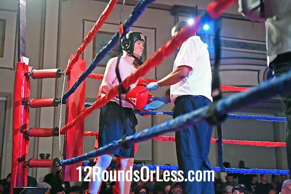 Bout #6:  Lucas Diaz (Blue Gloves), MJ Zone Rec.  vs Jacob Heugel (Red Gloves), Independent, 132Lbs. , Sub-Novice