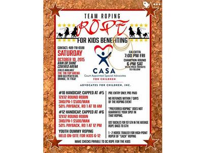 2015 CASA 'Rope For Kids' Team Roping