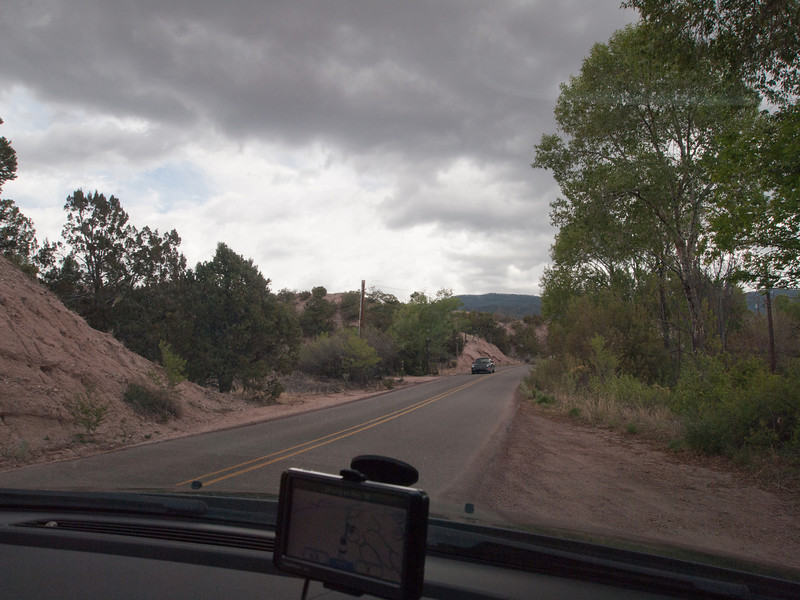 a residential side road In  Chupadero (near Santa Fe)