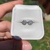 1.70ctw Old European Cut Diamond Clover Stud Earrings, GIA H-I SI 44