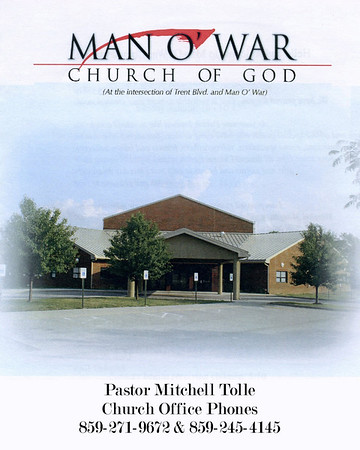 1st Sunday for Mitchell Tolle as Pastor of the Man-O-War Church of God