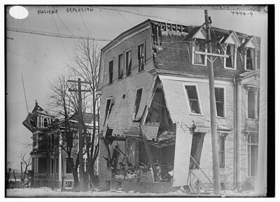 Buildings damaged by Halifax Explosion