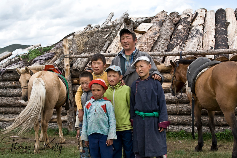 Mongols of Bunkhan Valley. Mongolia