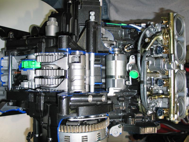 Yamaha engine cutaway