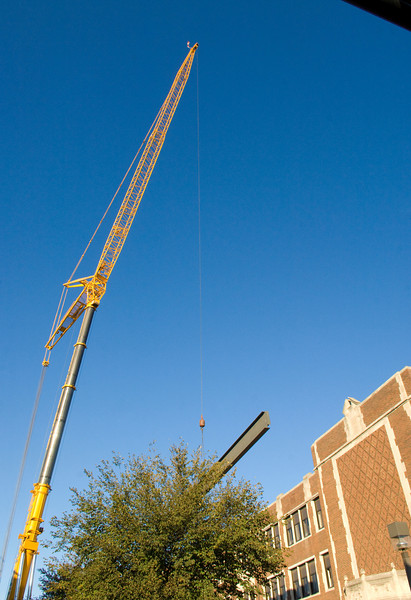 University Hall beam installation