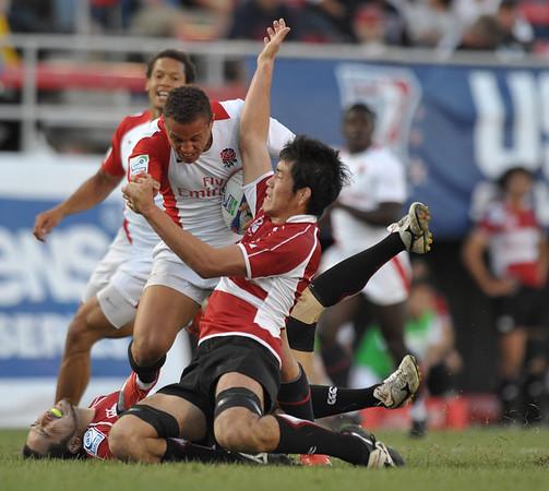 2010 RUGBY SEVENS LAS VEGAS SEVENS ENGLAND VS JAPAN