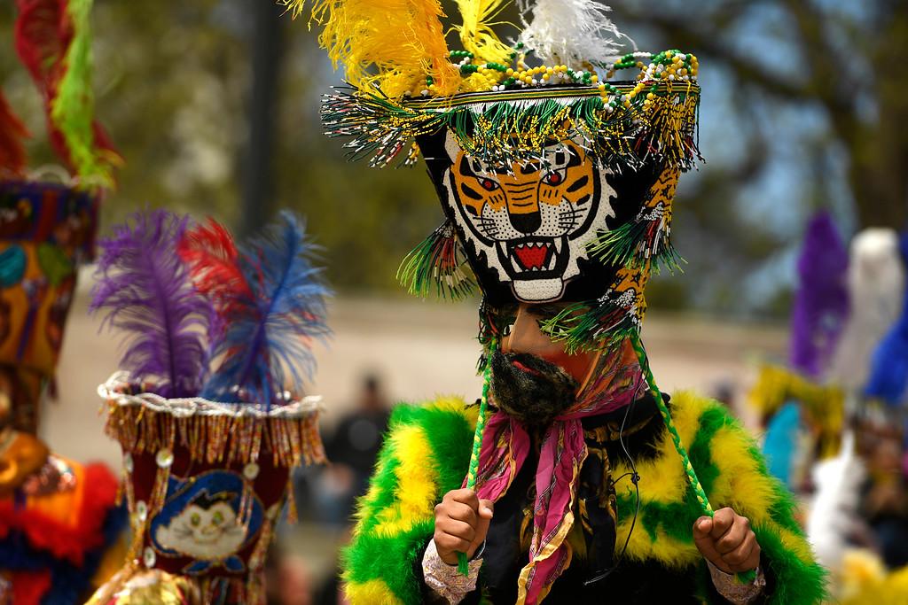 . DENVER, CO - MAY 8:  Los Chinelos de Morelos dancers perform during Cinco de Mayo celebrations at Civic Center Park on May 8, 2016 in Denver, Colorado. (Photo by Helen H. Richardson/The Denver Post)