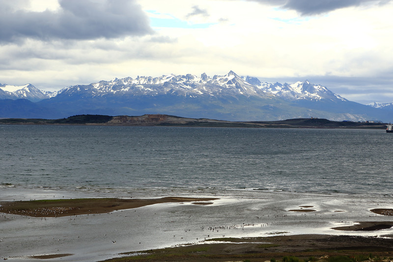 Beach, South of Ushuaia on Ruta J, dirt road goes as far as you can drive south from Ushuaia, jan 2013.