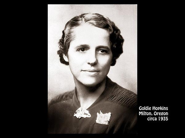 Goldie Lazetta Hopkins in about 1945 in Martinez, California.