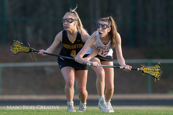 Broughton Lady Caps lacrosse at Middle Creek. February 26, 2019. D4S_1705