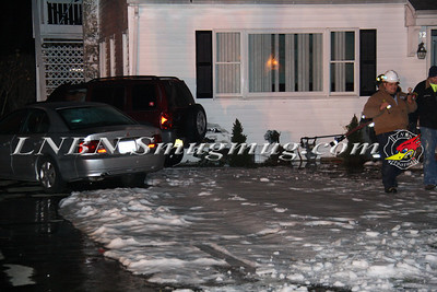 Brentwood F.D. Car vs House w/ Natural Gas Leak 132 3rd St 2-20-13