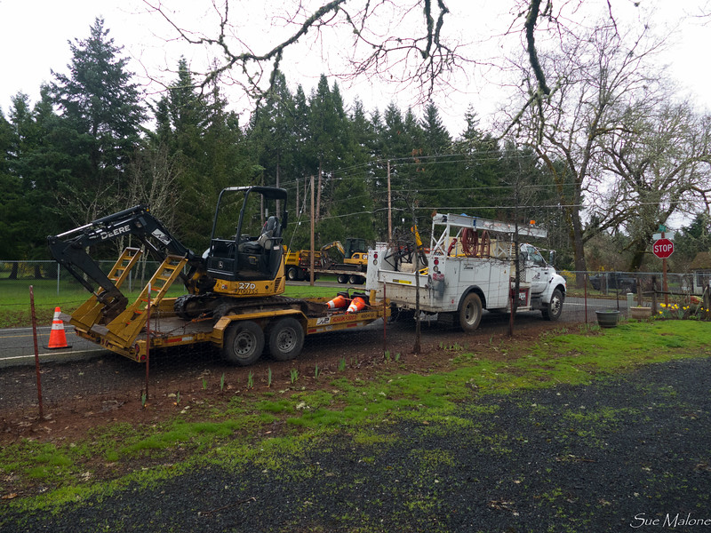 Lots of equipment started showing up this morning