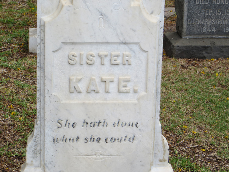 A rather lukewarm epitaph for this poor woman, I thought.