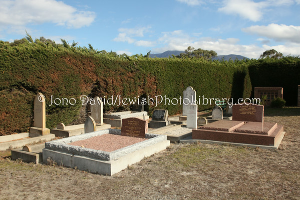 AUSTRALIA, Tasmania, Hobart. Jewish sector @ Cornelian Bay Cemetery. (8.2010)