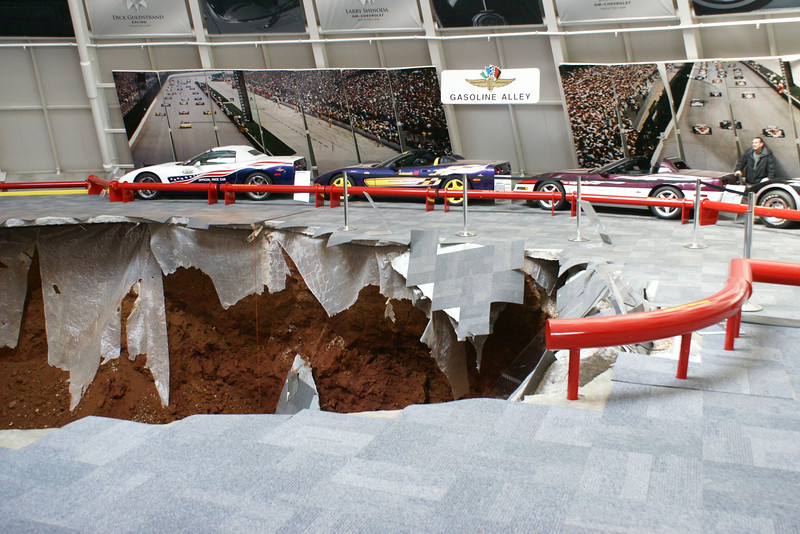 National Corvette Museum Skydome Sinkhole.   Permission given to use this image with credit to the National Corvette Museum