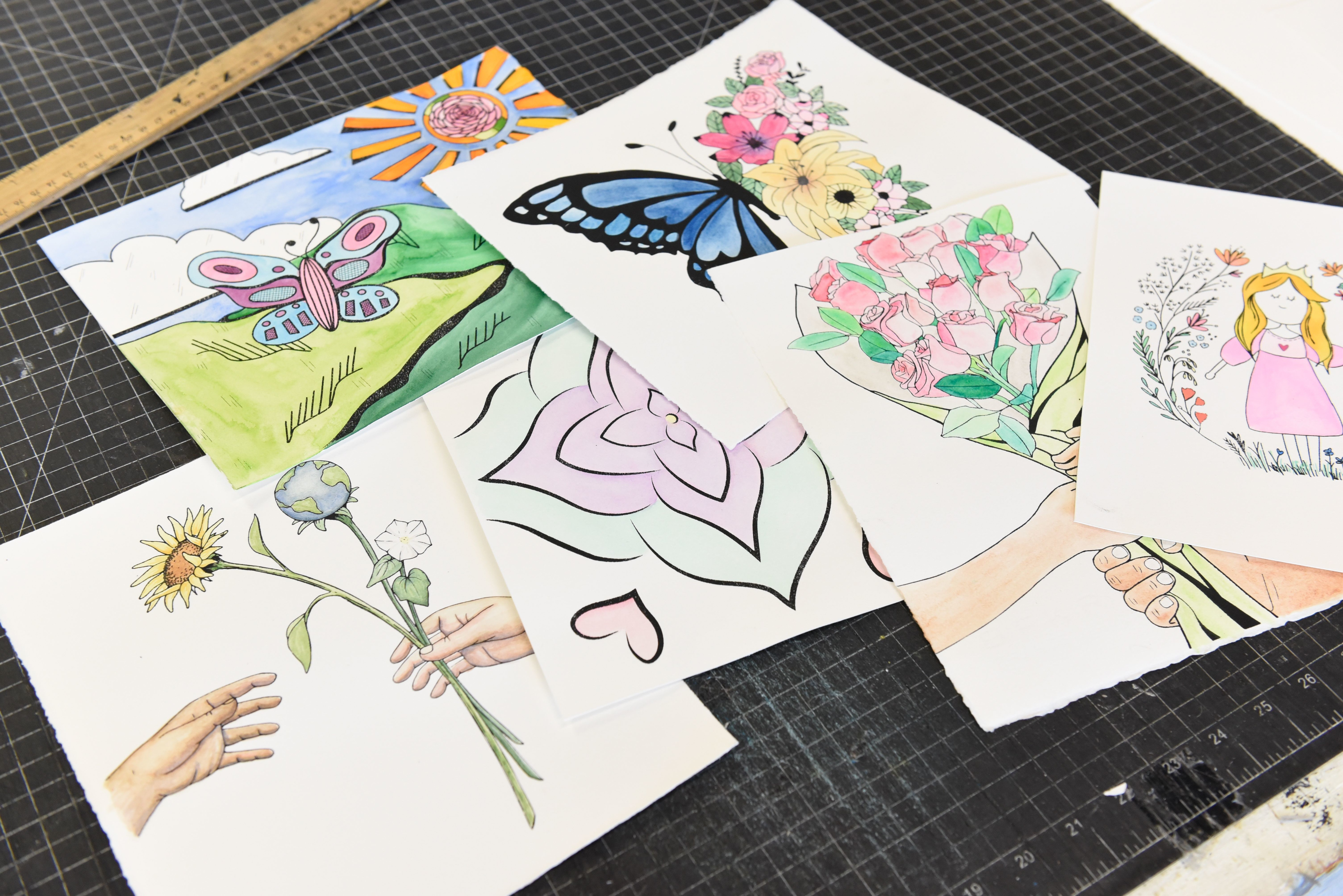 Image for Georgia College art students create watercolor prints for kids in Cameroon