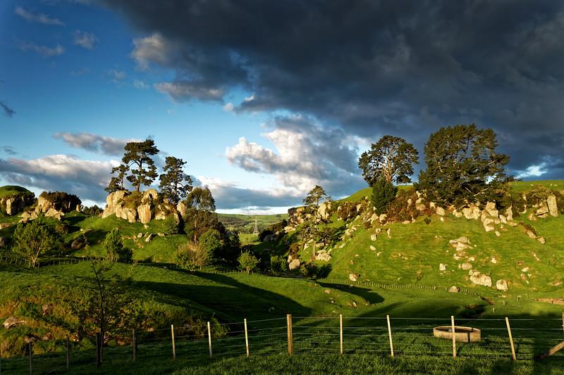Countryside along Frenchpass Road near Cambridge in the Waikato