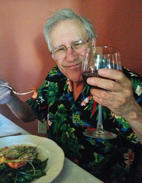 Dinner with Larry Lebin, Nick, FL. Herdic House in Williamsport PA. May 29 2013