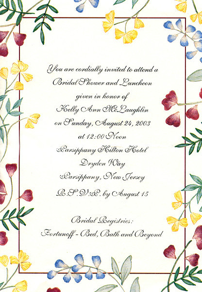 Kelly's bridal shower 8-24-03