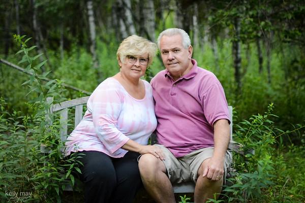 Mom and Bob- bench